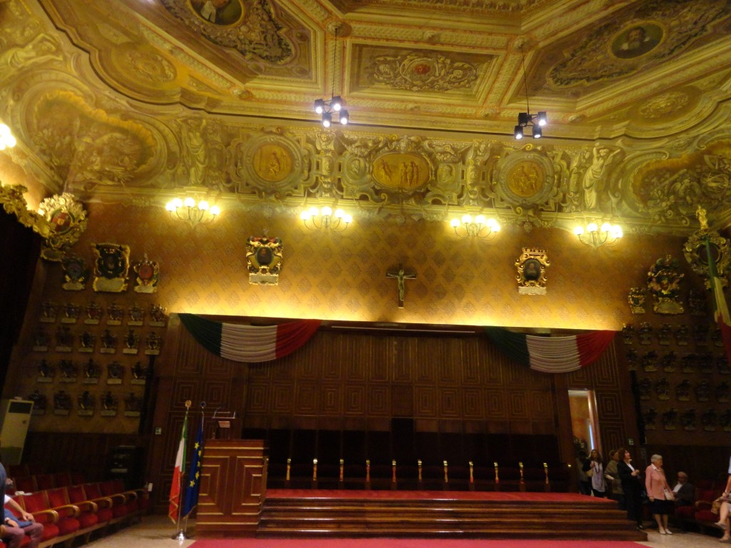 The Aula Magna, where the concert was held